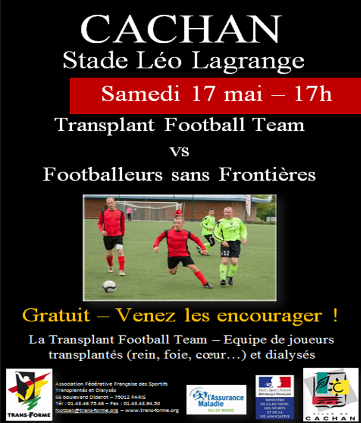 affichette match de foot 17 mai